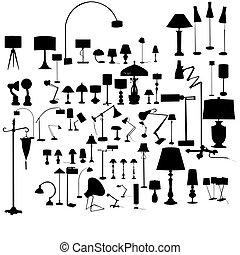 jogo, de, lâmpadas