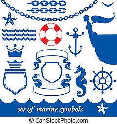 jogo, de, marinho, elementos