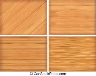 jogo, de, marrom, textura madeira