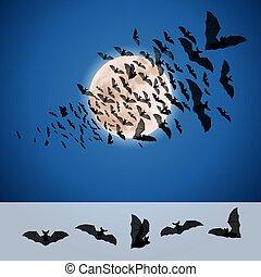 jogo, de, morcegos