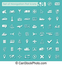 jogo, de, navegação, ícones