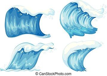 jogo, de, onda azul