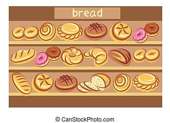 jogo, de, pão