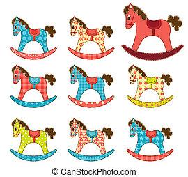 jogo, de, patchwork, cavalos, 7.