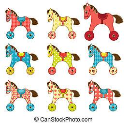 jogo, de, patchwork, cavalos, 8.