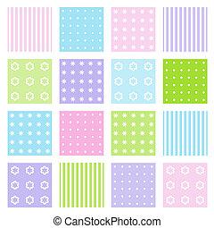 jogo, de, seamless, padrões