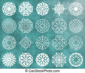 jogo, de, snowflakes