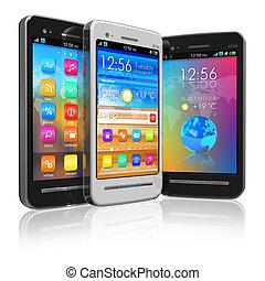 jogo, de, touchscreen, smartphones