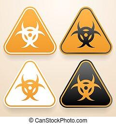 jogo, de, triangular, sinais, de, perigo