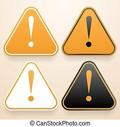jogo, de, triangular, sinais