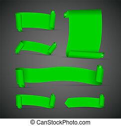 jogo, de, verde, bandeiras