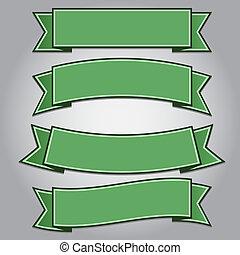 jogo, de, verde, fita, bandeiras