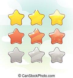 jogo, de, vetorial, estrelas