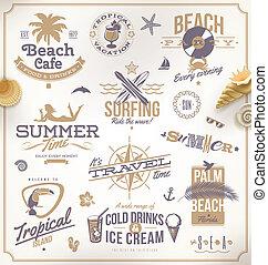 jogo, de, viagem, e, férias, emblemas