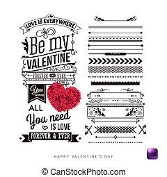 jogo, de, vindima, estilo, projete elementos, para, seu, dia dos namorados, card.