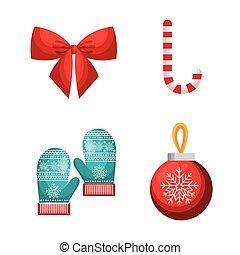 jogo, decoração, feliz natal, desenho