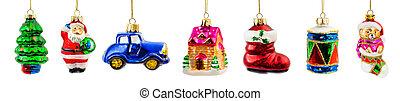 jogo, decorações natal