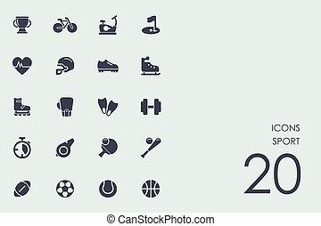jogo, desporto, ícones