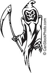 jogo, -, dia das bruxas, ilustração, reaper, vetorial,...