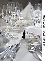 jogo, dinnerand, casório, fantasia, tabela, partido, evento, cartão