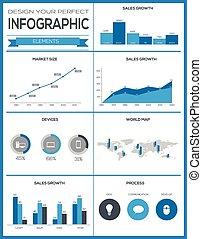 jogo, elementos, infographics