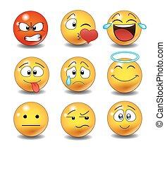 jogo, emoticons.
