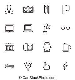 jogo, escritório negócio, ícone