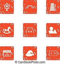 jogo, estilo, grunge, daqui diante, ícones