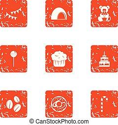 jogo, estilo, rejoicing, grunge, ícones
