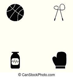 jogo, exercício, ícone