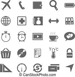 jogo, experiência., ícones, aplicação, 2, branca