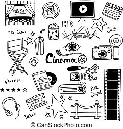 jogo filme, doodle