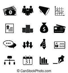 jogo, finanças, negócio, ícone