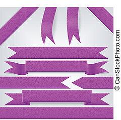 jogo, fitas, violeta