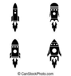 jogo, foguete, ícone