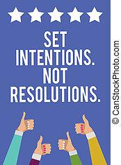 jogo, foto, sinal, polegares, azul, informação, experiência., positivo, intentions., início, estrelas, texto, conceitual, novo, alcance, mostrando, homens, cinco, metas, mãos, não, aprovação, mulheres, cima, escolhas, resolutions..