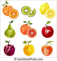 jogo, fruta