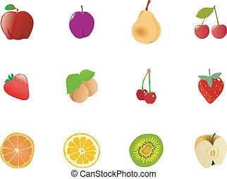 jogo, frutas