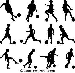 jogo, futebol, criança