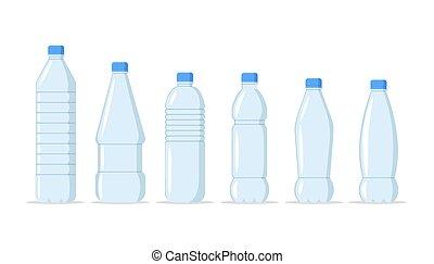 jogo, garrafa água