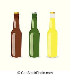 jogo, garrafa, ilustração