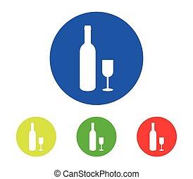 jogo, garrafas, vinho