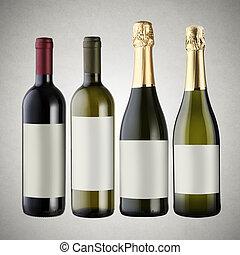 jogo, garrafas vinho