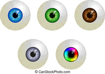 jogo, globos oculares