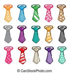 jogo, gravata, isolado, Ilustração, fundo, vetorial, branca