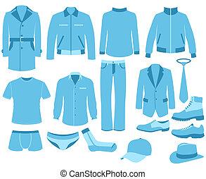 jogo, homem, roupas