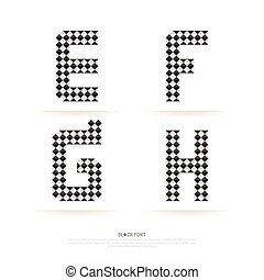 jogo, illustration., alfabeto, vetorial, style., bloco