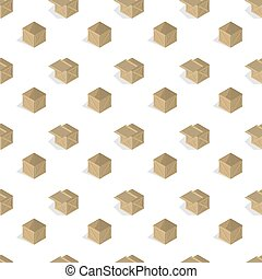 jogo, illustration., madeira, seamless, caixas, vetorial, fundo