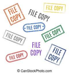 jogo, illustration., selos, vetorial, cópia, arquivo