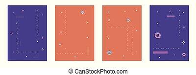 jogo, illustration., vertical, abstratos, vetorial, backgrounds.